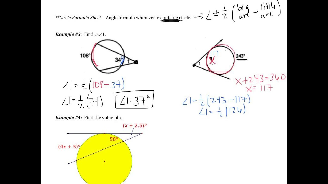 10.5: Apply Other Angle Relationships in Circles
