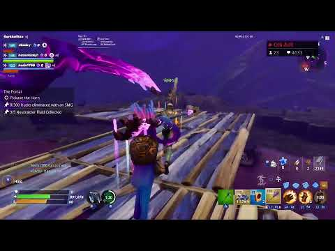 FORTNITE SAVE THE WORLD - MSK CARRIES FREE JOIN UPPP!