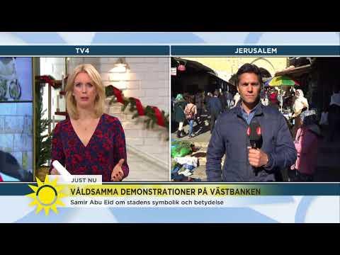Israel-Palestinakonflikten: Upptrappning av konflikten och våldsamma protester - Nyhetsmorgon (TV4)