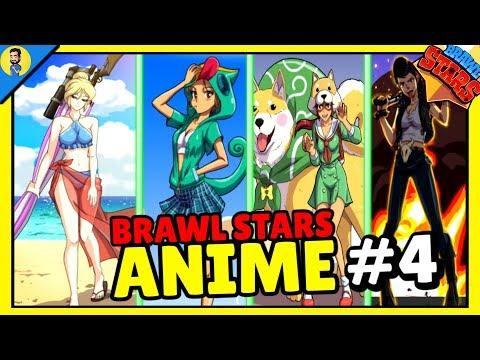 COMO SE VERÍA BRAWL STARS SI FUESE UN ANIME #4 - Brawl Stars