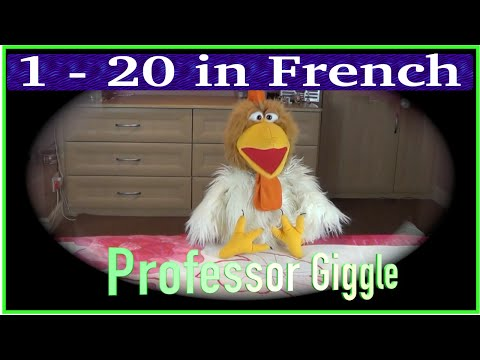 1  20 in French  Big numbers in French  Count in French with Jingle Jeff