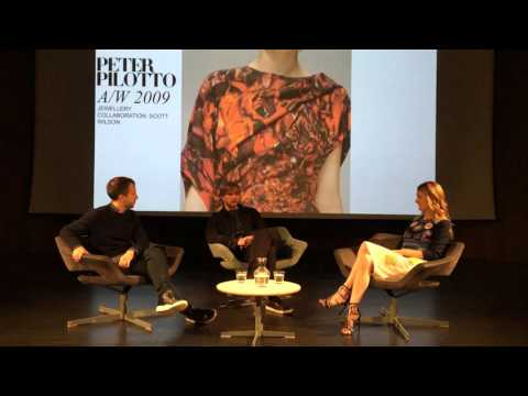 Peter Pilotto with Kinvara Balfour at the V&A