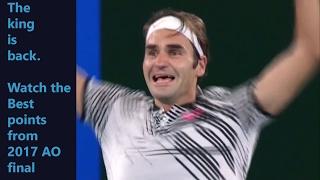 2017 Australian Open men's final Roger Federer vs Rafael Nadal highlights, best points