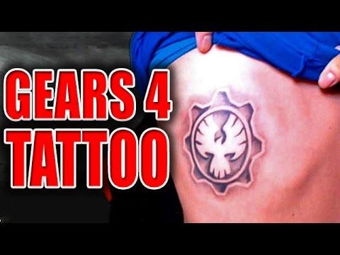GEARS 4 TATTOO - Gears & Beers (Gears of War 2) - YouTube