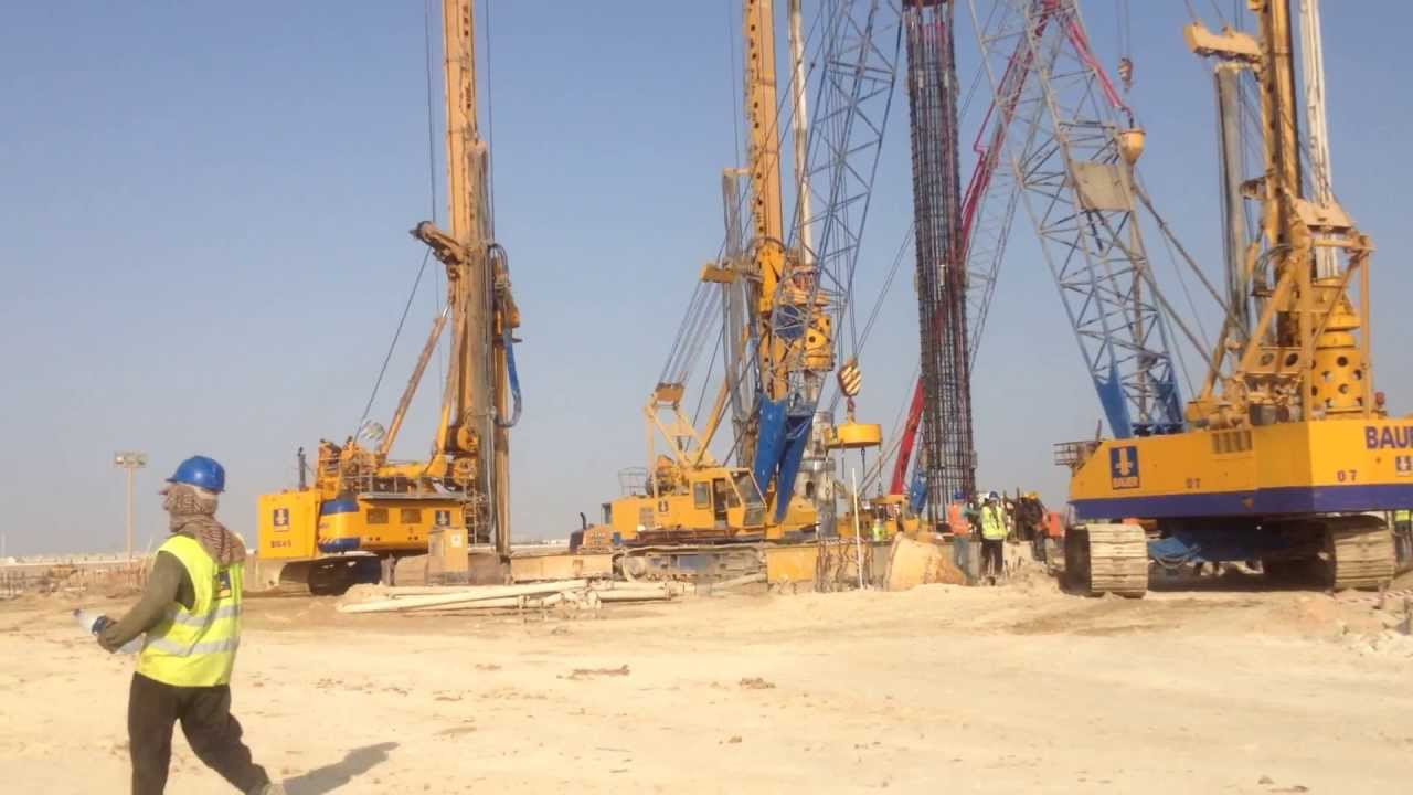 Kingdom Tower Foundations Piling Youtube