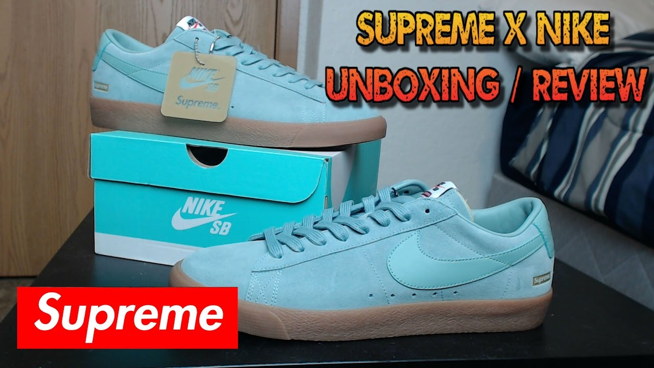 sports shoes 0a69c 7fff6 Supreme x Nike SB Blazer Low GT Cannon Unboxing / Review!!