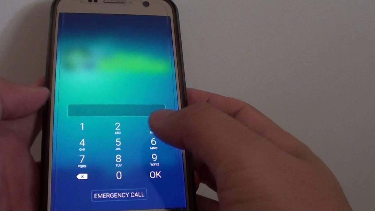 how to unlock pin code samsung galaxy s7