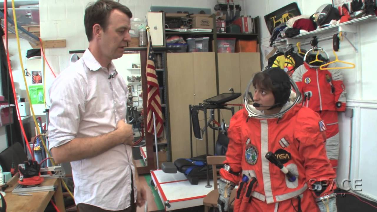 how to try on a real spacesuit in brooklyn video