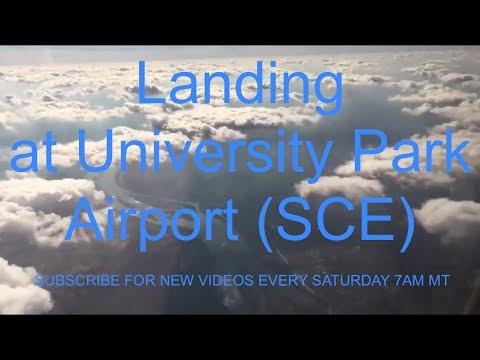 Landing at University Park Airport (SCE)