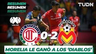 Resumen y Goles Toluca 0 - 2 Monarcas | Liga MX - Apertura 2019 - Jornada 9 | TUDN