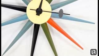 George Nelson Multicolour Sunburst Clock From Lakeland Furniture