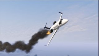 GTA V: Shooting Down Jet + Epic Chase To Crash Site
