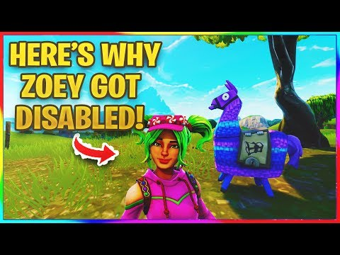 *NEW* HERE'S WHY ZOEY GOT DISABLED! | Fortnite News and Info