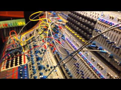 Huge vintage Buchla modular synth at EMS Stockholm