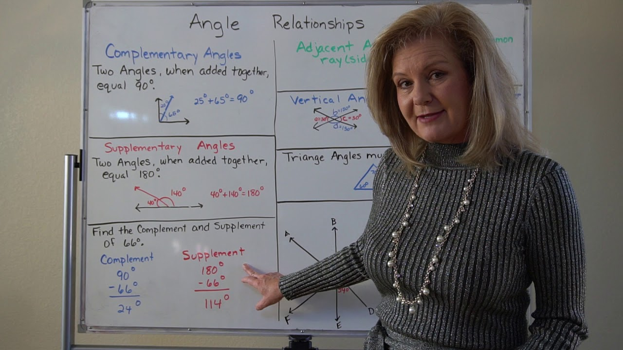 Angle Relationships - Lesson 13-1 - YouTube