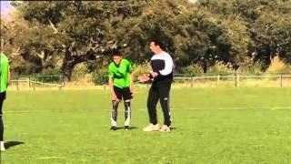 Soccer attacking drill 2v1 to goal sporting lisbon