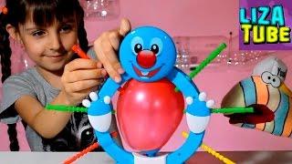 Веселая ИГРА челлендж Лопни Шарик Буминг Балун Лиза и Червяк ШОУ Booming Baloon Funny game lizatube