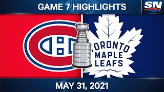 NHL Game Highlights   Canadiens vs. Maple Leafs, Game 7 - May 31, 2021