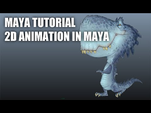 MAYA TUTORIAL - 2D ANIMATION IN MAYA(2) 마야에서 2D 애니메이션하기