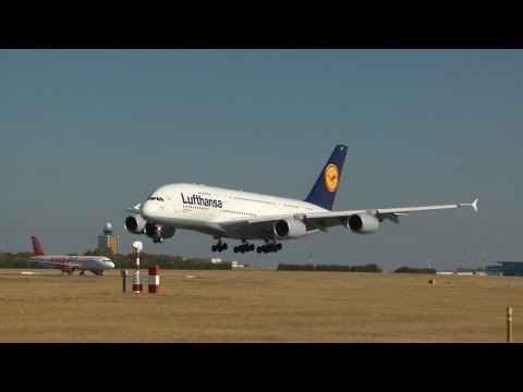 Lufthansa Airbus A380 visit to Budapest - video of the whole day (HD)