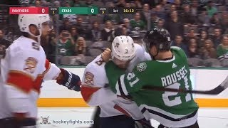 Keith Yandle vs Antoine Roussel Jan 23, 2018