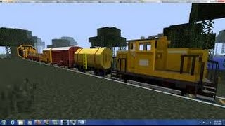 How To Make A Moving Train In Minecraft Tutorial ( No Mods )