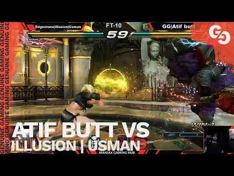 ATIF BUTT IS USING AKUMA AGAIN // Atif Butt (Akuma) Vs Usman (Nina) // FT10