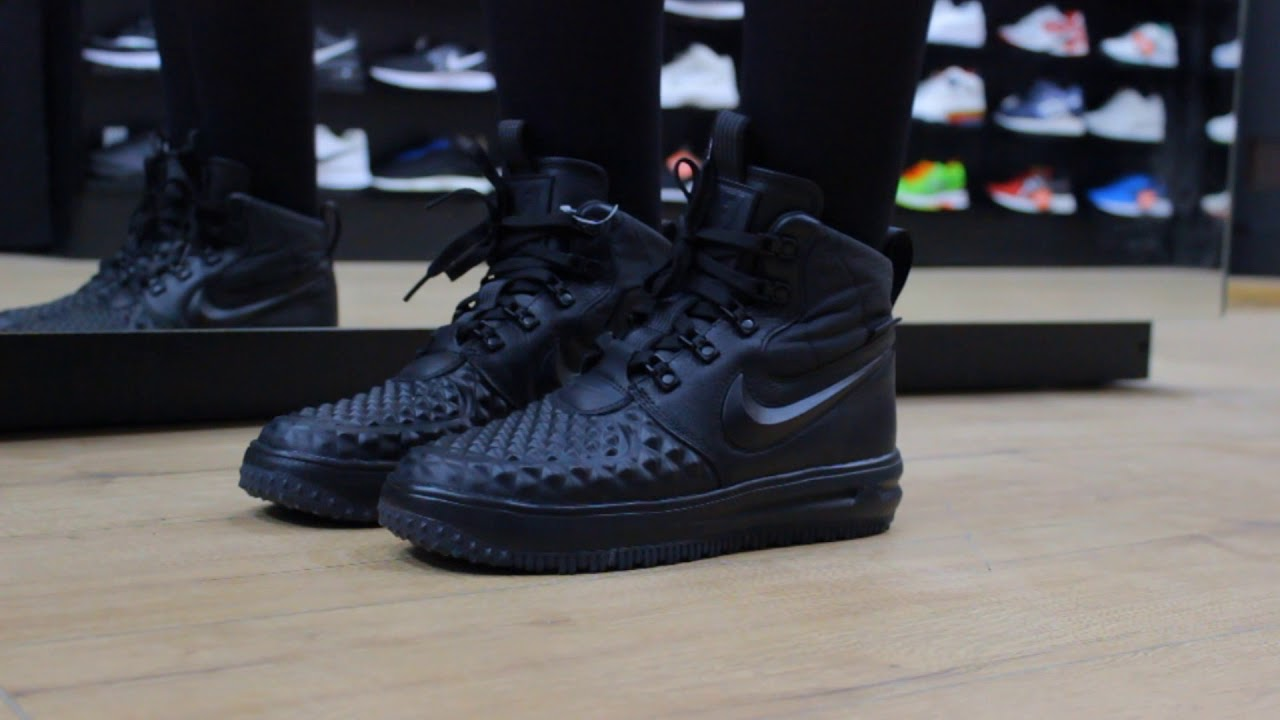 release date: 1a936 d7ee2 ... low cost onfeet nike lunar force 1 duckboot 17 gs 922807 001 black  sneakers.by
