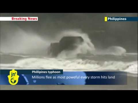 Typhoon Haiyan Rescue Footage: Barge crew miraculously rescued as typhoon batters Philippines
