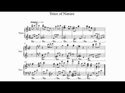 Voice of Nature (LG ringtone) | Sheet Music for piano