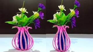 Paper Flower vase for Decoration/paper crafts/crafts ideas/DIY Paper Crafts/Kids Crafts