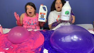 1 GALLON OF ELMER'S FLUFFY GLUE VS 1 GALLON OF DOLLAR TREE FLUFFY GLUE - MAKING GIANT SLIMES