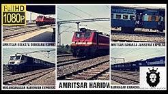 5 IN 1 COMPILATION OF HIGH SPEED TRAINS AT MUSTAFABAD [AMBALA YAMUNANAGAR SAHARANPUR SECTION]