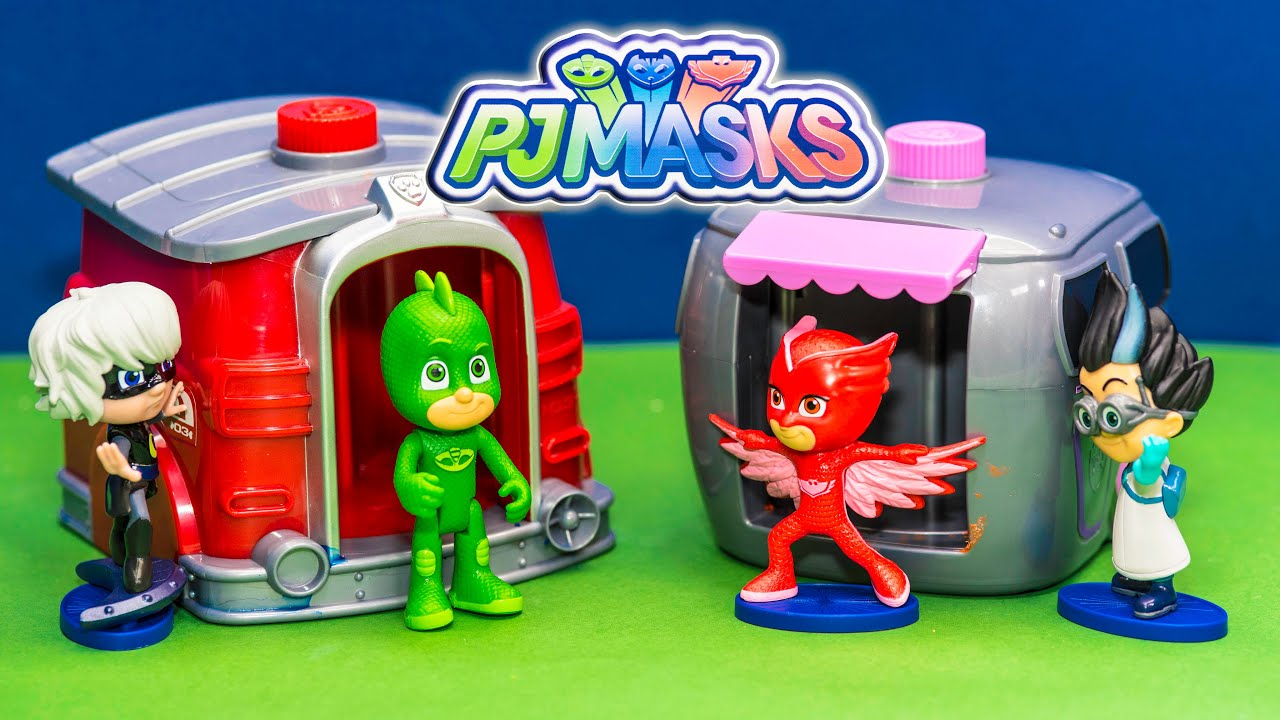 New Unboxing of PJ Masks Collectible Figure Set with the Assistant