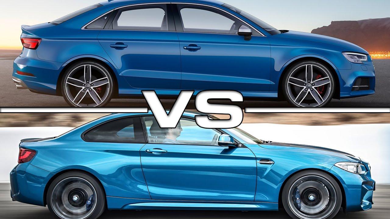 2017 Audi S3 Sedan vs BMW M2 - YouTube
