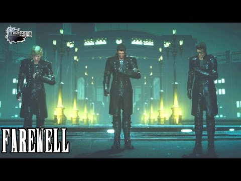 """Final Fantasy XV - Noctis says farewell - """"Walk tall my friends"""" - Sad Scene at the End"""