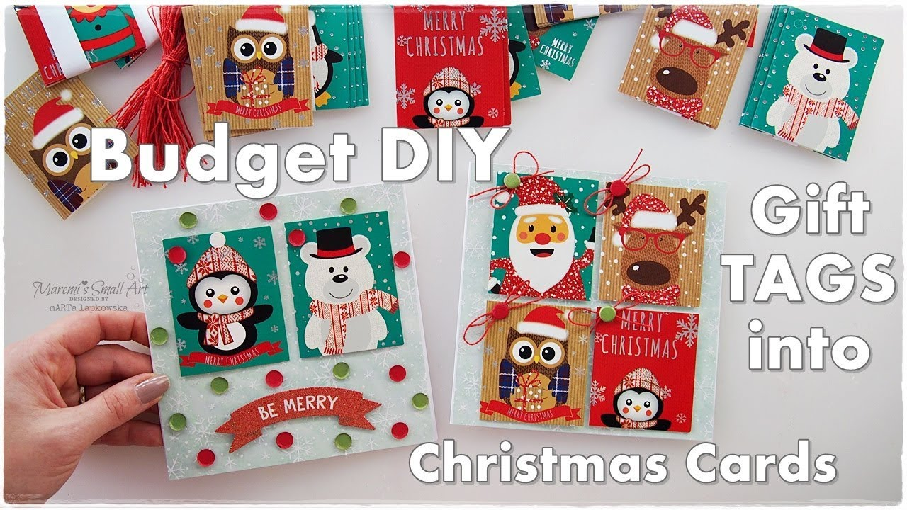 DIY Budget Christmas Cards made from old GIFT TAGS ♡ Maremi\'s Small ...