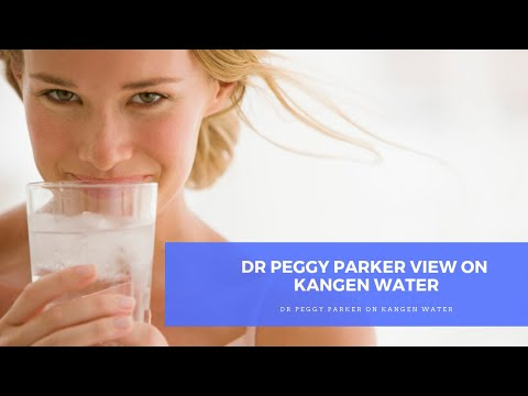 Dr Peggy Parker and KANGEN WATER