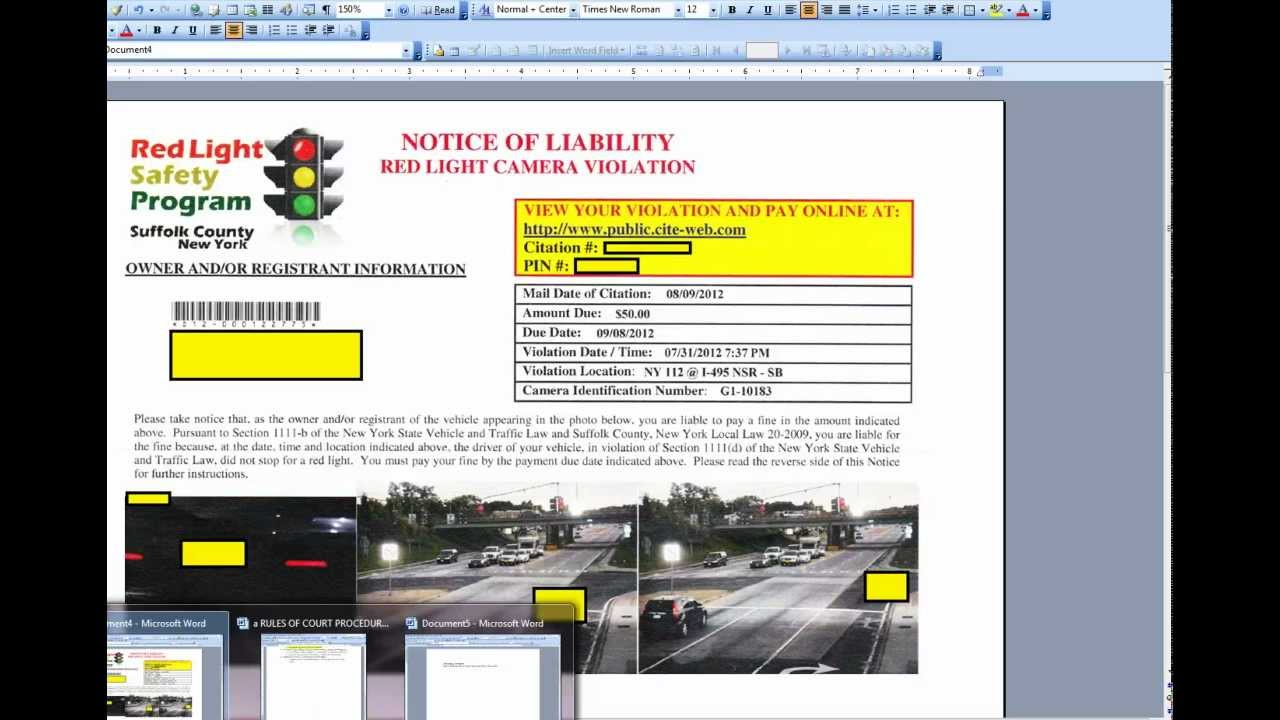 Red Light Ticket Suffolk County Ny Payment Www Lightneasy Net