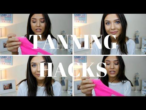 TANNING HACKS || ELIZABETH HAMILTON