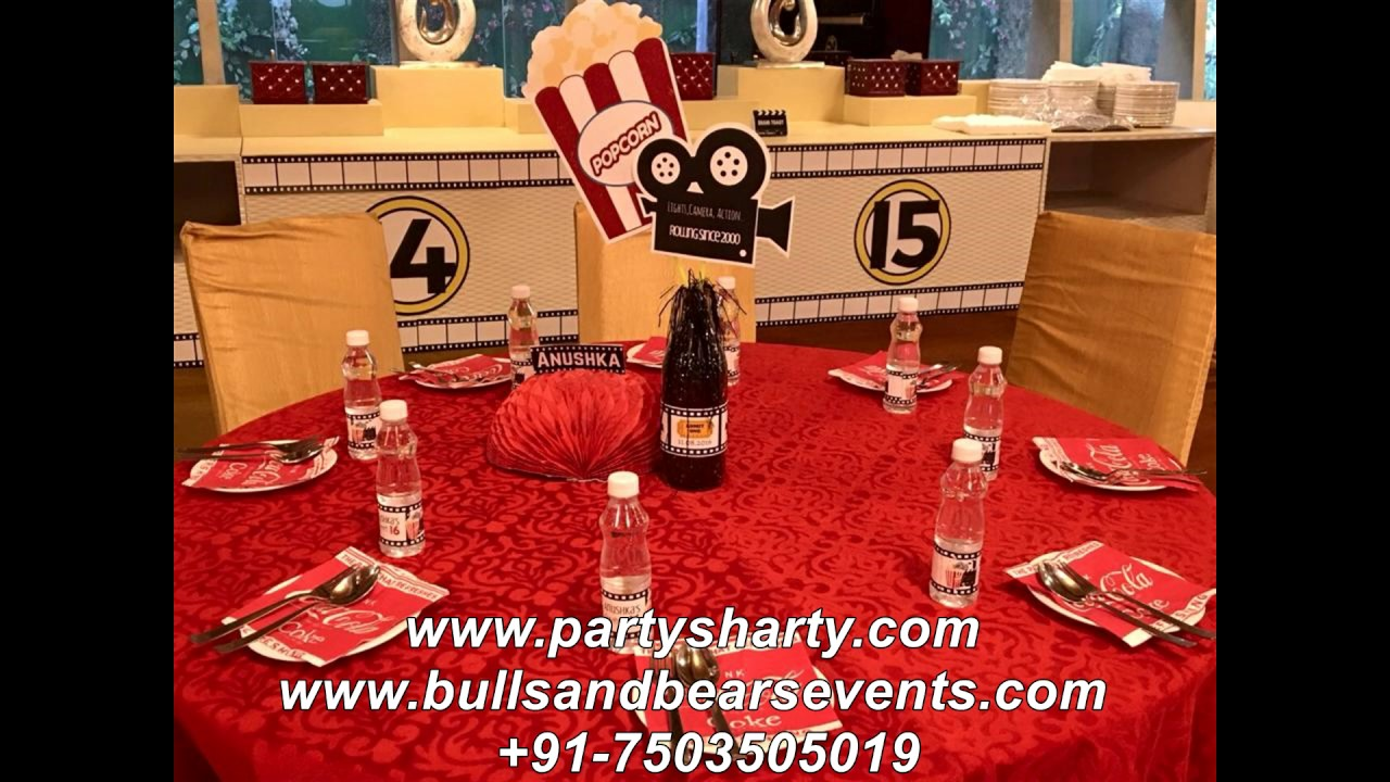 Birthday Party Organiser Bollywood Theme Decoration In Banquet Hall