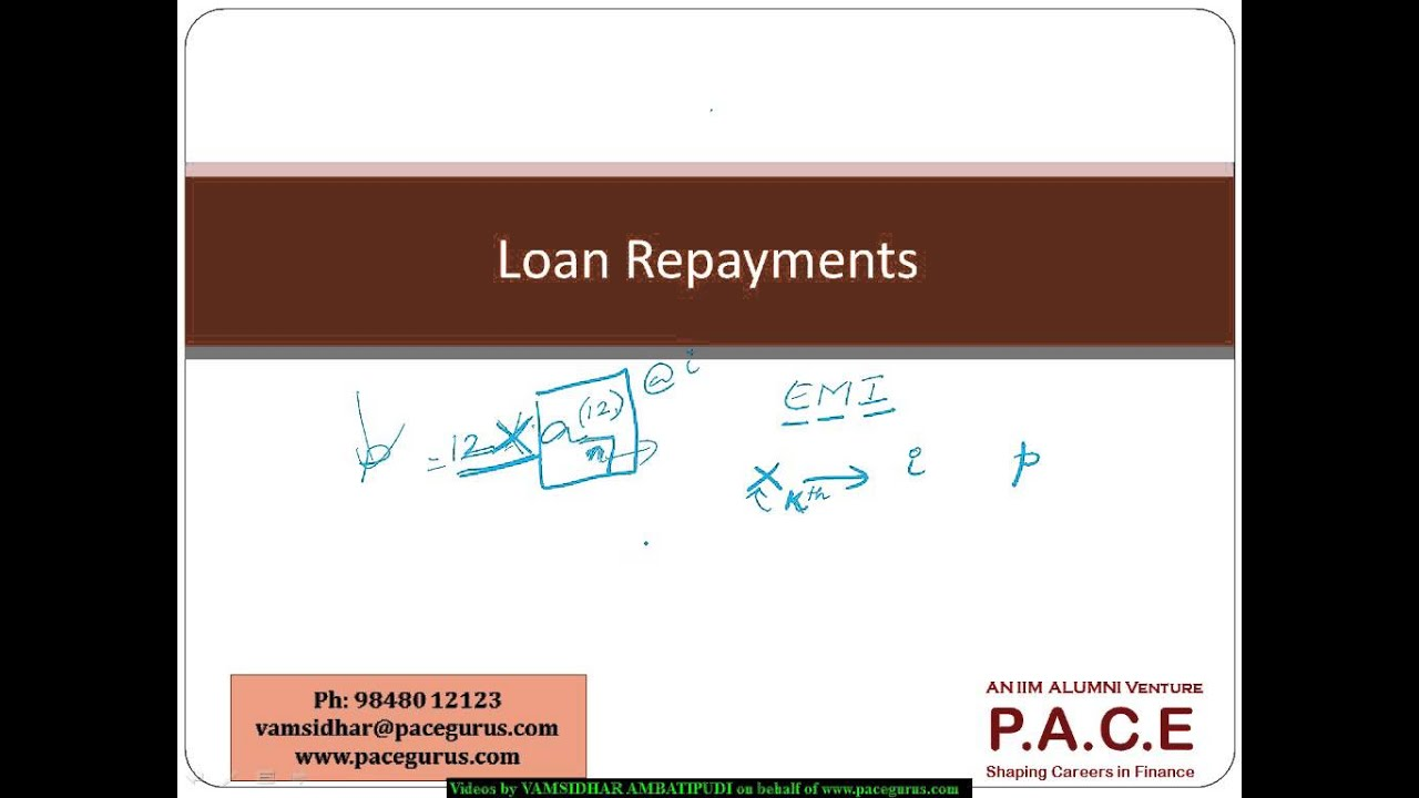Loan Repayment in CT 1 and Exam FM - Financial Mathematics - YouTube