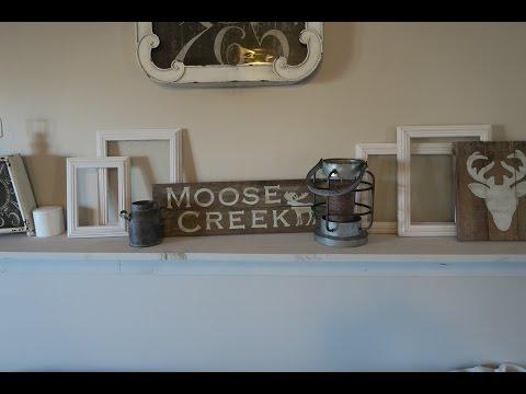 Mantel Decor   DIY Wood Pallet Sign