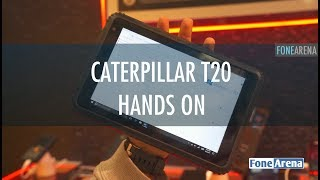Caterpillar T20 rugged Windows 10 tablet Hands On