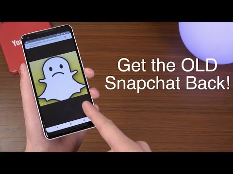 Get The OLD Snapchat Layout on Any Android Phone!