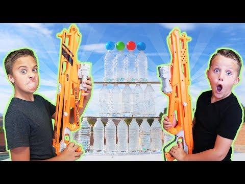 EPIC RAPTORSTRIKE NERF TRICK SHOT OBSTACLE COURSE CHALLENGE!
