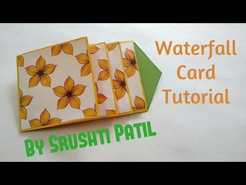How to make - Waterfall Card Tutorial | by Srushti Patil