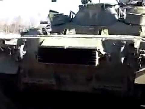 Запуск Т - 80БВ с газотурбинной силовой установкой.