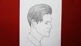 Uzun Saçlı Erkek Resmi Nasıl Çizilir. How To Draw A Long Hair Man