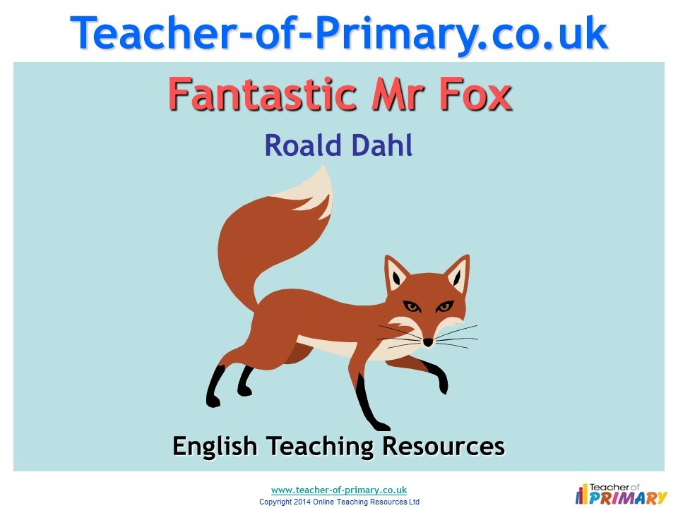 book report fantastic mr fox roald dahl